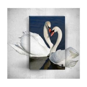 Nástěnný 3D obraz Mosticx Swans, 40 x 60 cm