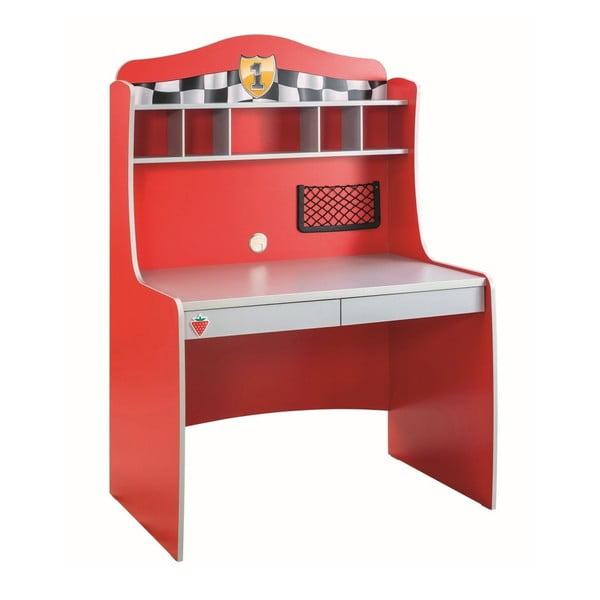 Červený pracovní stůl Race Cup Desk With Unit