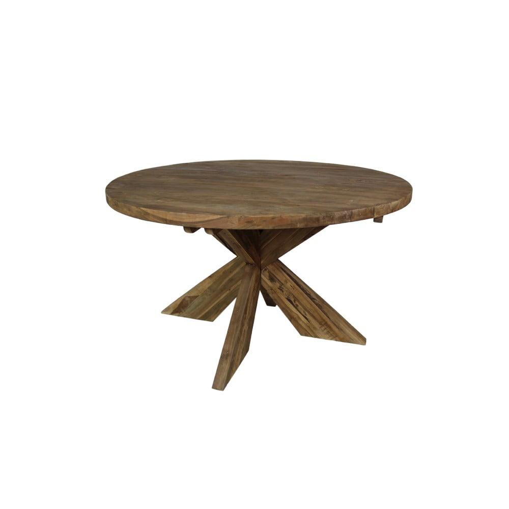 Jídelní stůl z teakového dřeva HSM Collection Ronde, průměr 150 cm