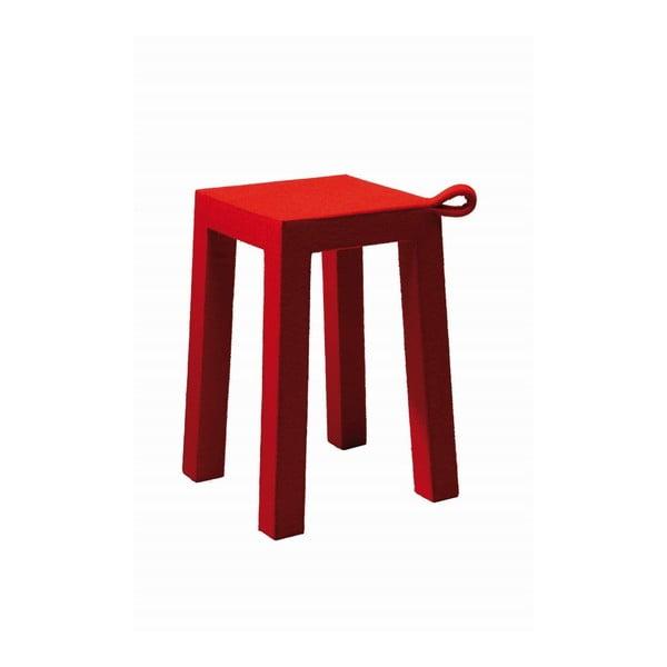 Červená dřevěná stolička TemaHome, Handle 30x30x45 cm