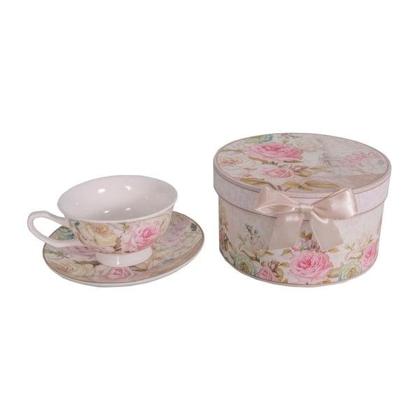 Vintage csésze és csészealj szett díszdobozban - Antic Line
