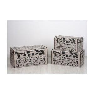Sada 3 úložných krabic Ule