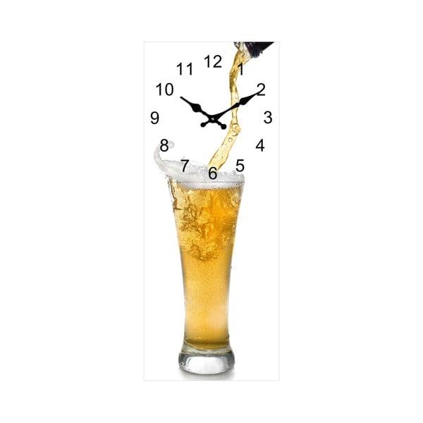 Skleněné hodiny Sklenice, 20x50 cm