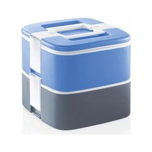 Šedo-modrý termo box na oběd Enjoy, 1,5 l