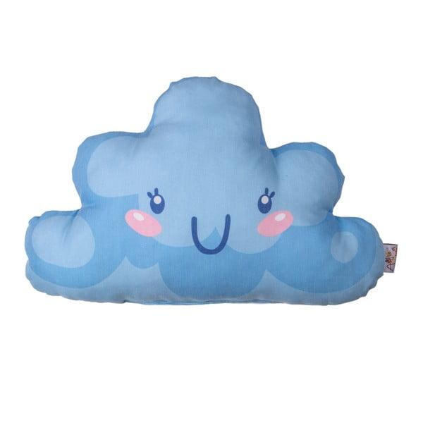 Pernă din amestec de bumbac pentru copii Apolena Pillow Toy Hurro, 21 x 40 cm, albastru închis