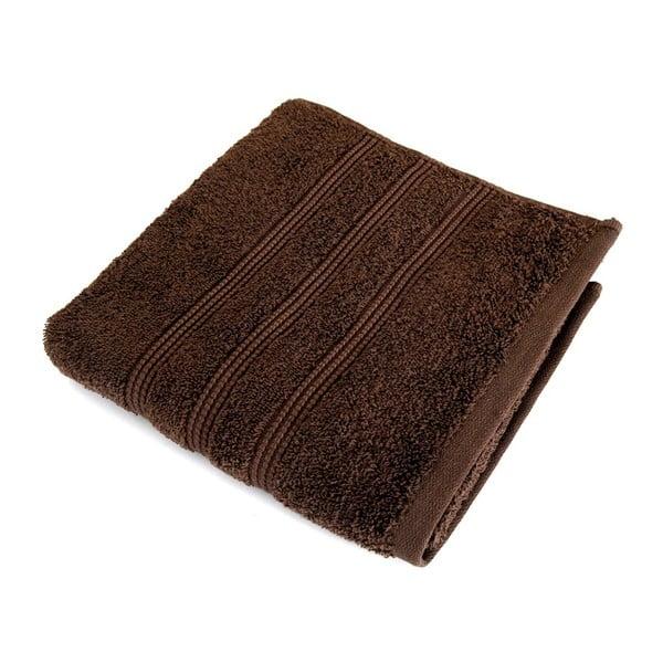 Hnědý ručník z česané bavlny Irya Home Classic, 50x90cm