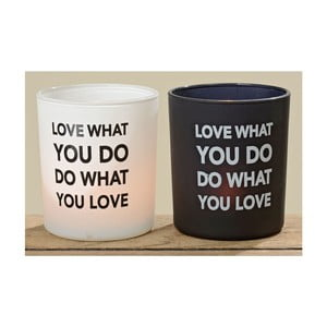 Sada 2 svícnů Love What You Do