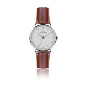 Pánské hodinky s koňakově hnědým páskem z pravé kůže Frederic Graff Silver Dent Blanche Cognac