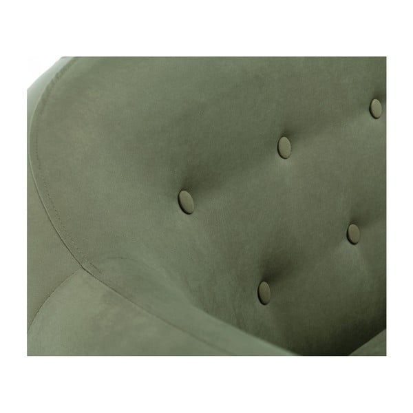 Canapea pentru 3 persoane Scandi by Stella Cadente Maison Constellation, verde