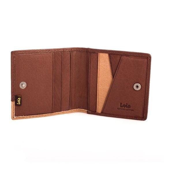 Kožená peněženka Lois Brown, 9,5x9,5 cm