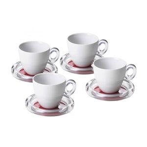 Sada 4ks šálků na čaj, červená