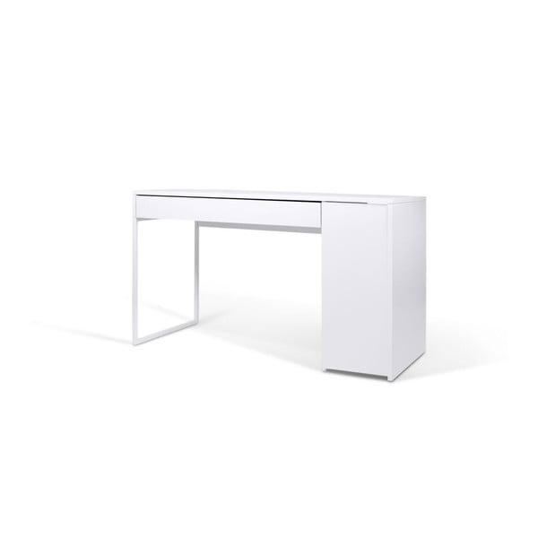 Bílý pracovní stůl TemaHome Prado