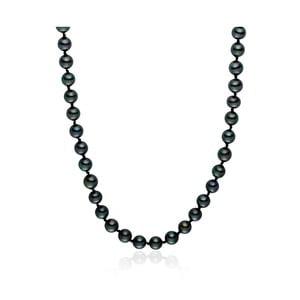 Perlový náhrdelník Mystic Grey, 42 cm