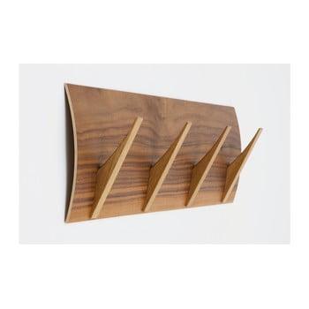 Cuier de perete din lemn masiv Woodman Rack Naki Walnut Large imagine