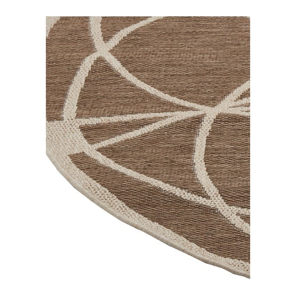 Covor foarte rezistent Floorita Tondo Mink, ⌀ 194 cm