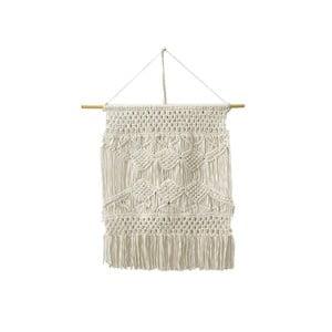 Krémově bílá závěsná dekorace ze 100% bavlny HF Living Macrame, 60 x 80 cm
