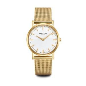 Dámské hodinky ve zlaté barvě s bílým ciferníkem Eastside East Village