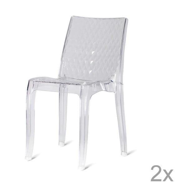 Sada 2 plastových židlí  Quadri