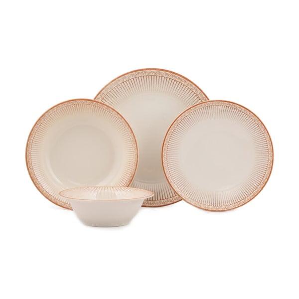 24-częściowy zestaw talerzy porcelanowych Kutahya Lumno