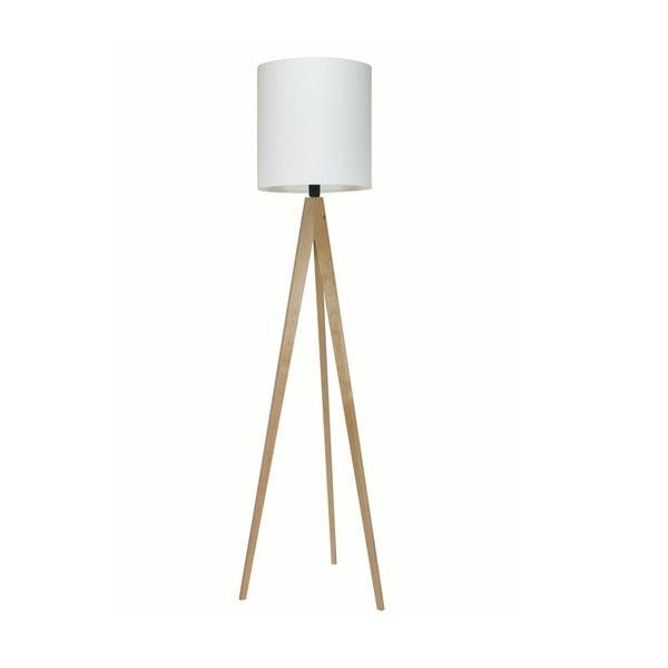 Stojací lampa Artist White/Birch, 125x33 cm