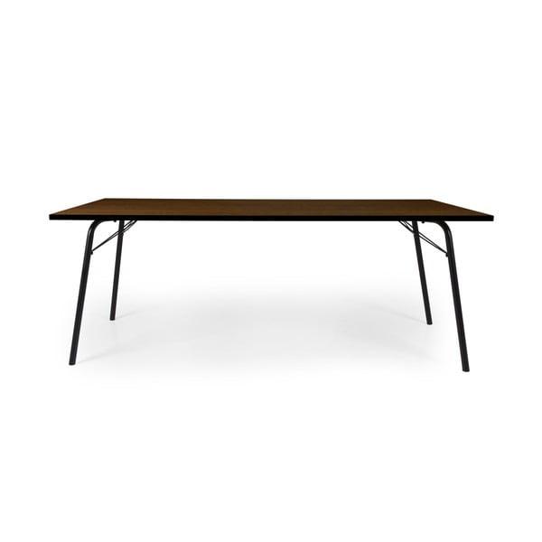 Tmavohnedý jedálenský stôl Tenzo Daxx, 90 x 200 cm