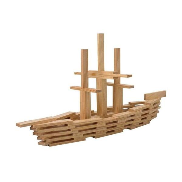 Dřevěná stavebnice Kapla, fialová