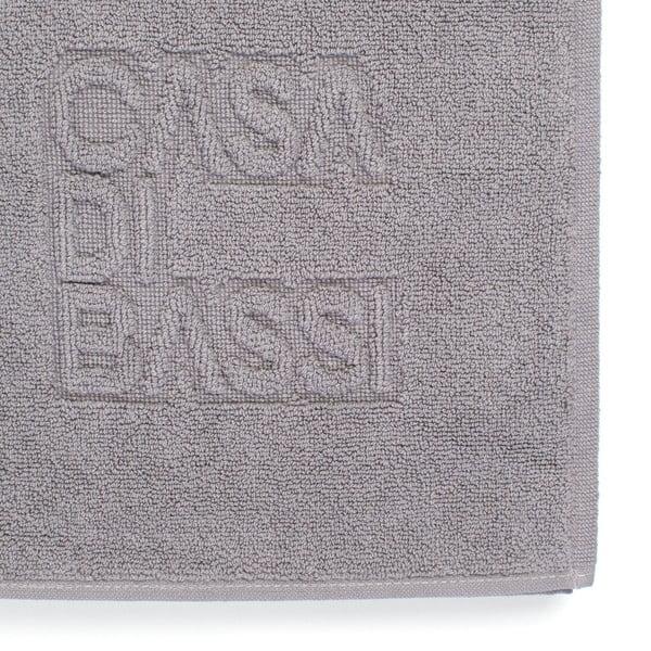 Šedá bavlněná koupelnová předložka Casa Di Bassi Basic,50x70cm