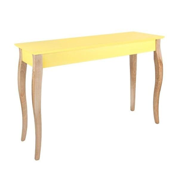 Konzolový stolek Dressing Table 150x74 cm, žlutý