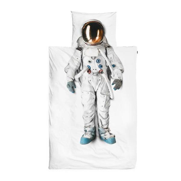 Lenjerie de pat din bumbac Snurk Astronaut, 140x200cm