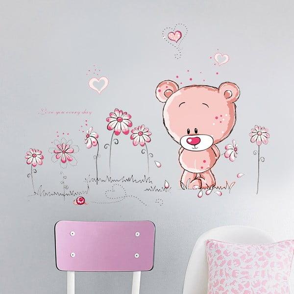 Samolepka na stěnu Méďa, 50x70 cm