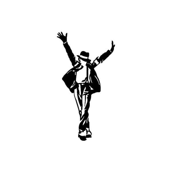 Černá kovová nástěnná dekorace Michael Jackson, 36 x 69 cm