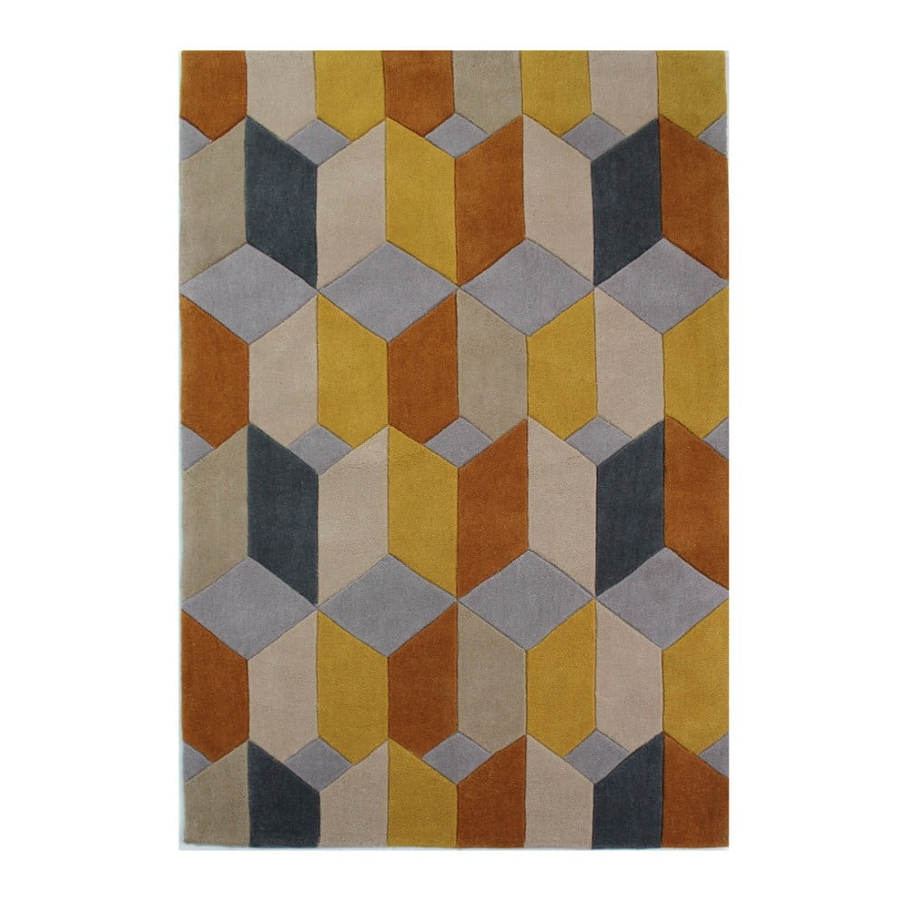 Koberec Flair Rugs Infinite Scope Ochre,  120 x 170 cm