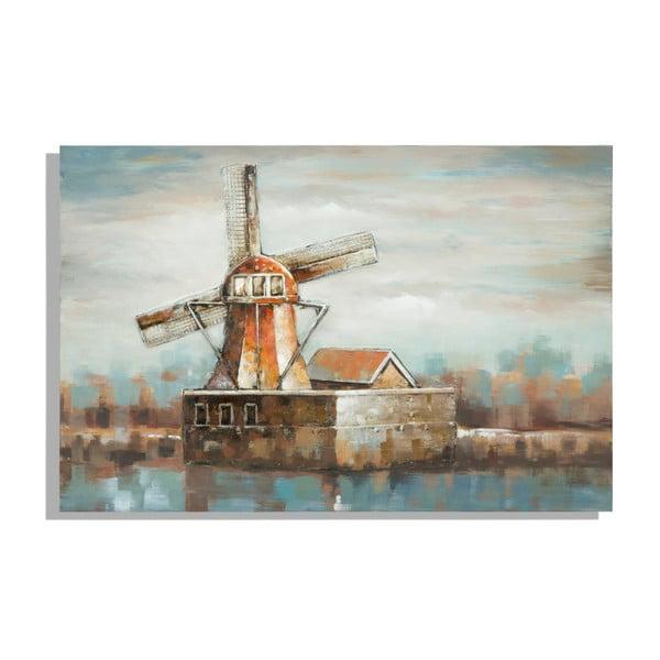 Ručně malovaný obraz Mauro Ferretti Mulino a Vento, 120 x 80 cm