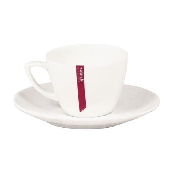 Csontporcelán kávéscsésze alátéttel, 100 ml - Sabichi