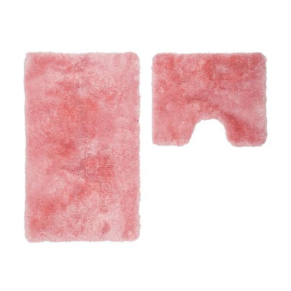 Sada 2 koupelnových předložek s výkrojem Spotlight Pink