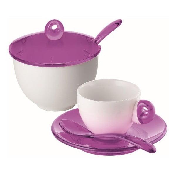 Set fialového šálku a cukřenky Fratelli Guzzini Espresso