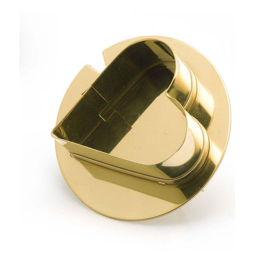 Vykrajovátko na cukroví ve formě prstenu ve zlaté barvě e-my Ciok