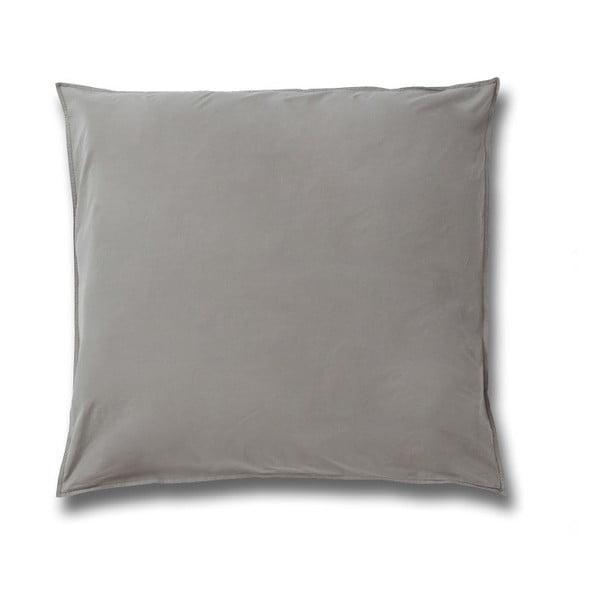 Sivá obliečka na vankúš z bavlneného perkálu Casa Di Bassi, 80×80 cm