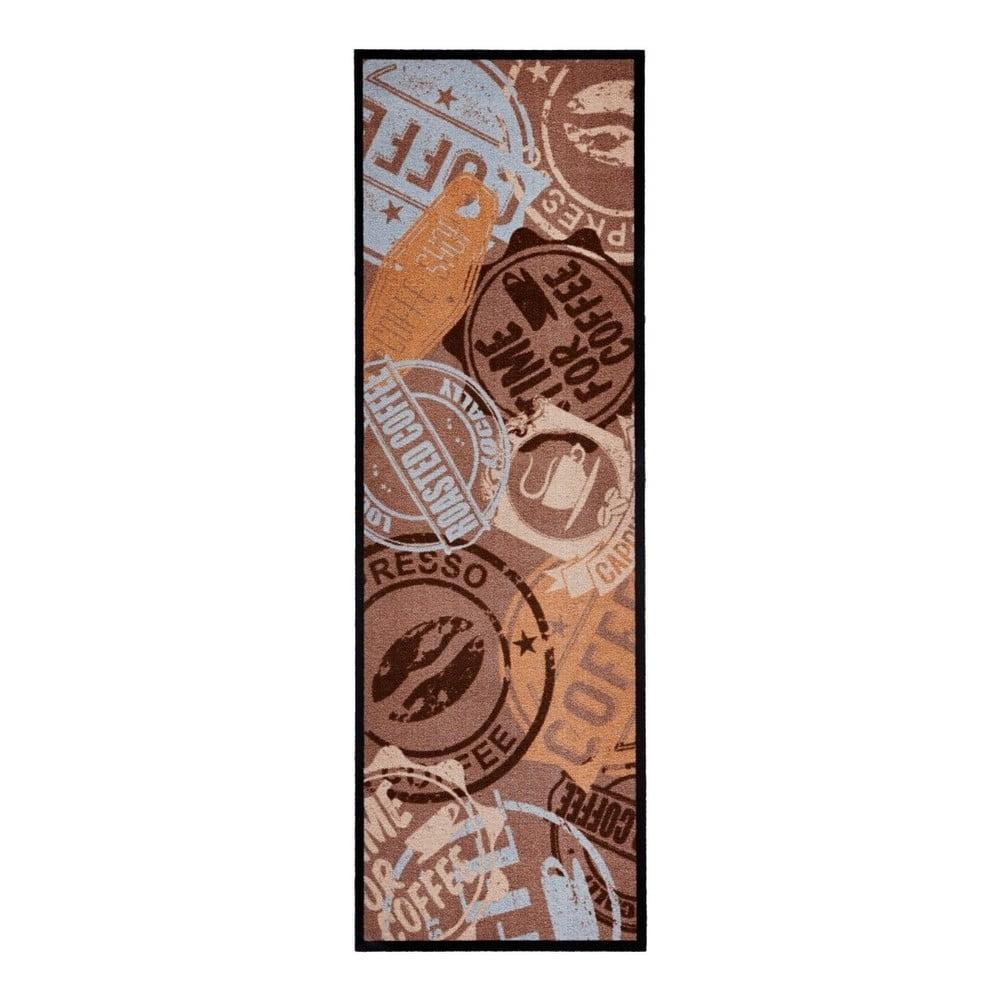Hnědý kuchyňský běhoun Zala Living Coffee Stamp, 50 x 150 cm