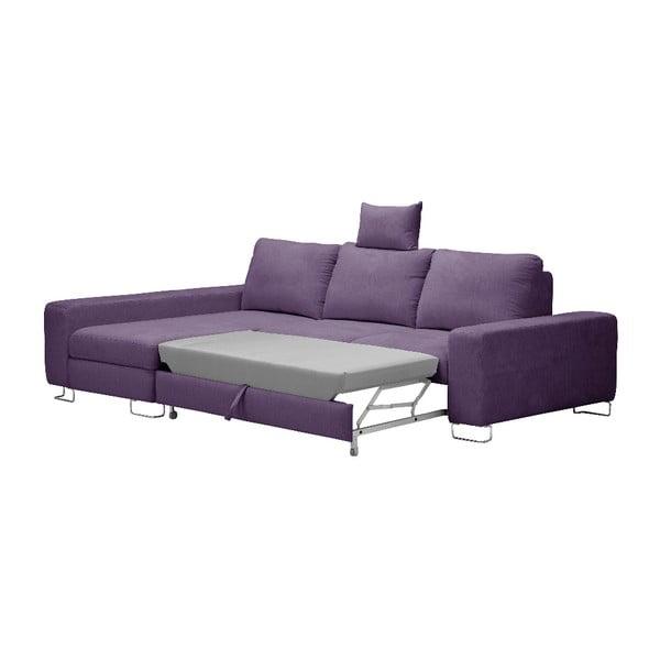 Levadnulově fialová rohová rozkládací pohovka Windsor & Co Sofas, levý roh Alpha