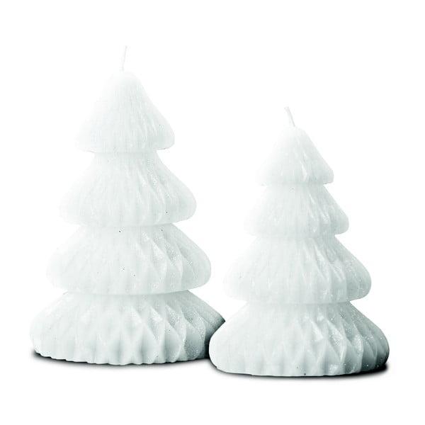 Sada 2 svíček Candle Tree White