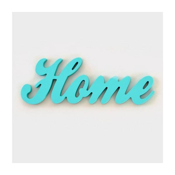 Dekorativní nápis Home, mint