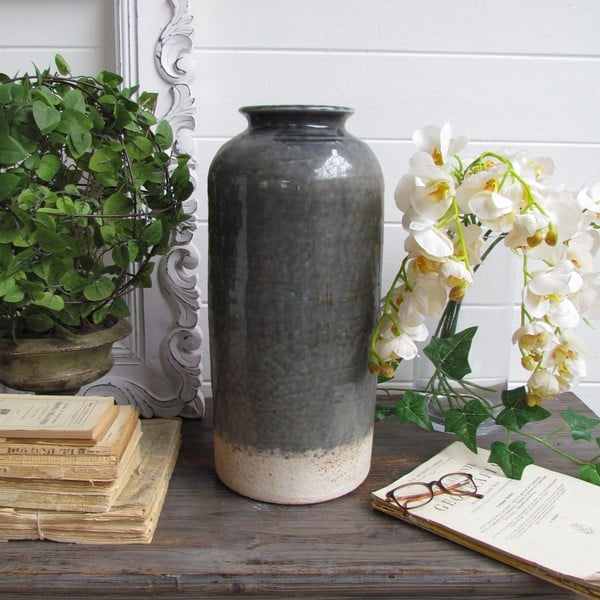 Váza Grey Antique Raw, 21x47 cm
