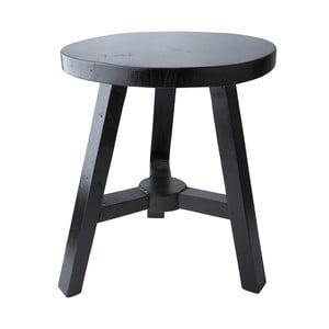 Dřevěná stolička, černá, 38,5 cm