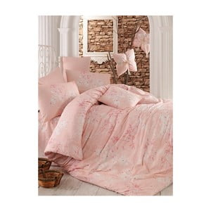 Růžové povlečení na dvoulůžko Elena, 200x220cm