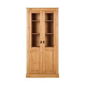 Vitrină din lemn de pin cu 2 uși Støraa Tommy, culoare naturală