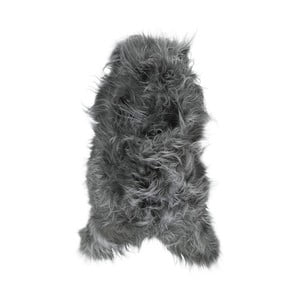 Tmavě šedá ovčí kožešina s dlouhým chlupem Arctic Fur Ptelja, 100 x 55 cm