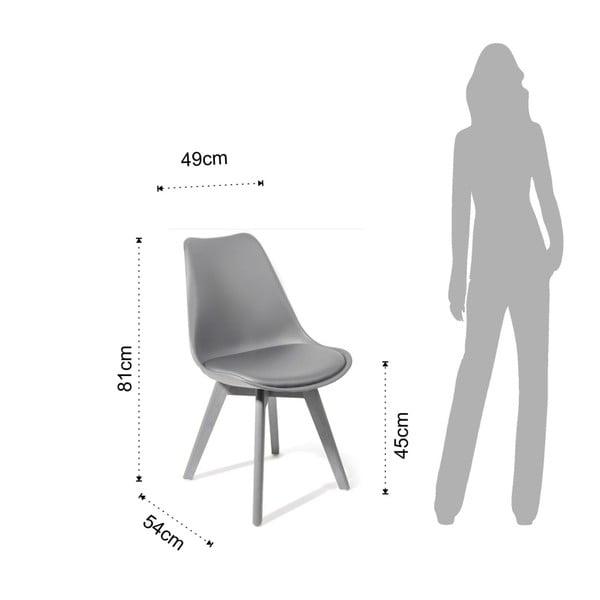 Sada 4 šedých jídelních židlí Tomasucci Kiki Evo