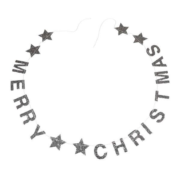 Ghirlandă de Crăciun cu mesaj Rex London Silver Stars