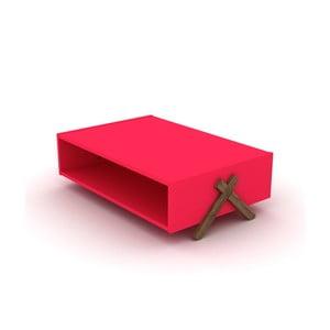 Růžový konferenční stolek Rafevi Kipp